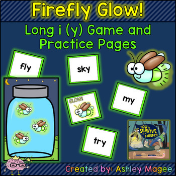 Firefly Glow! - Long i (y) Game and Practice Pages