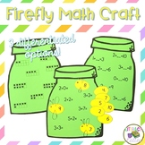 Firefly Math Craft  {counting, addition, subtraction & missing addend}