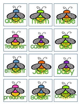 Firefly Noun Sorting Game