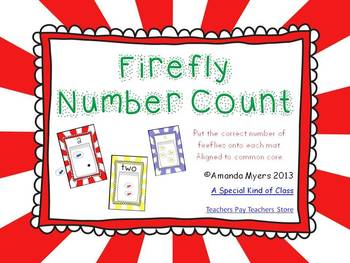 Firefly Number Count - Aligned to Common Core