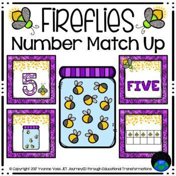 Firefly Number Match Up Math Center