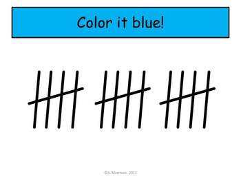 Firefly Tally Marks - Beginning Watch, Think, Color Mystery Pictures