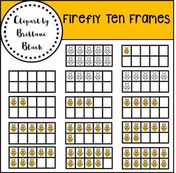 Firefly Ten Frames~ Clipart