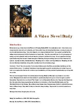 Firefly by Joss Whedon: A Middle School Novel Study
