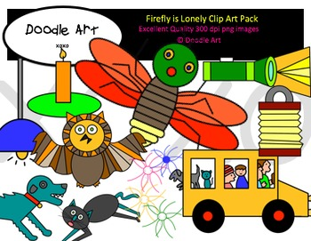 Firefly is Lonely Clipart Pack