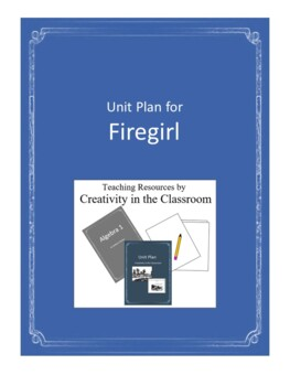 Firegirl Novel Unit Plus Grammar