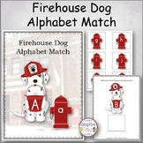Firehouse Dog Alphabet Match