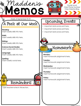 Firehouse Newsletter Template
