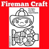 Fire Fighter Craft | Preschool Kindergarten 1st Grade | Fire Safety Month