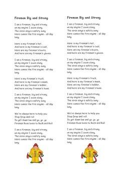 Fireman Big and Strong Song
