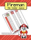 Fireman Customizable File Folder Game Board