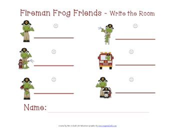 Fireman Frog Write-the-Room