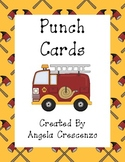 Fireman Themed Punch Cards