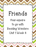 Friends Four -Square Writing