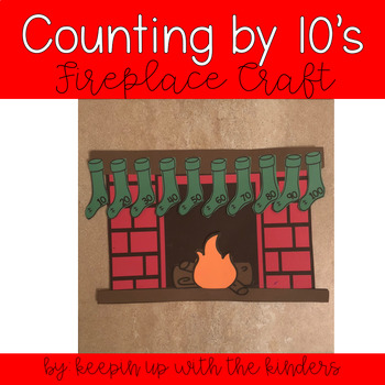 Fireplace Counting by 10's Craftivity