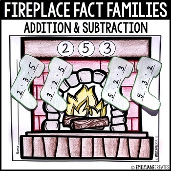 Fireplace Stockings Addition and Subtraction Fact Families
