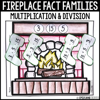 Fireplace Stockings Multiplication and Division Fact Families