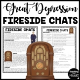 FDR's Fireside Chats During the Great Depression Reading Comprehension Worksheet