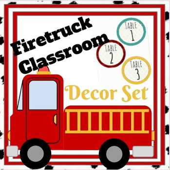 Firetruck Classroom Decor Bundle