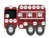 Firetruck Number Word Mat