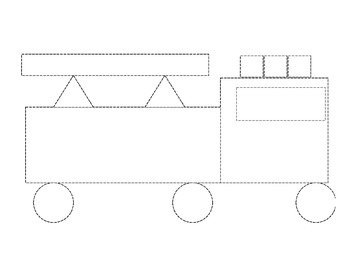 firetruck shape template by behind the scenes mrs gloudemans tpt