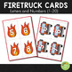 Firetruck and Fire Safety Themed Letters and Number Cards