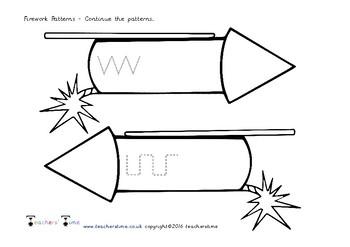 Firework Handwriting Patterns