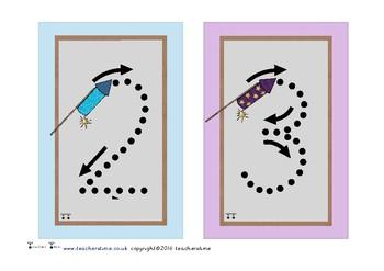 Firework Number Formation