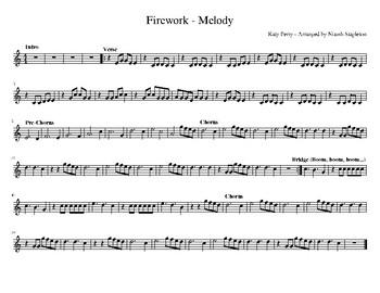 Firework Pop Music Orff Arrangement - Simplified Sheet Music