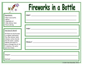 Firework in a Bottle Science Activity