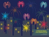 Fireworks Celebration Clip Art Set