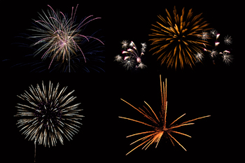 Fireworks Clipart, PNG Photo Overlays