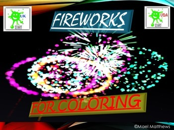 Fireworks Coloring Book