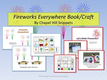 Fireworks Everywhere packet--Special Education and SLP