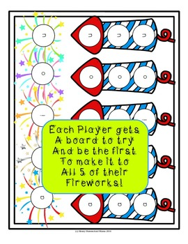Fireworks Reading Game for Practicing CVC Words