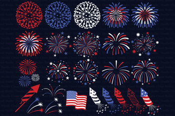 Fireworks SVG, 4th of July Svg, Independence Day Svg, Fireworks Clipart PNG.