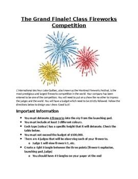 Fireworks: Trigonometry Inquiry Project