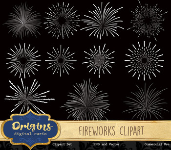 Fireworks Vector Clipart, firework eps svg png party clip art graphics