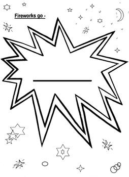 Fireworks go - simple writing frame
