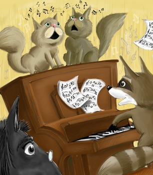 Fireworks in the Night, Randy the Raccoon and His Musical Friends Series