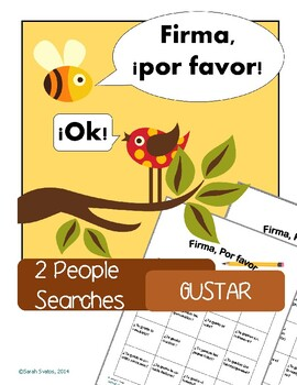 Gustar, 2 Spanish Communicative Activities for food and activities