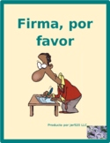 Utiles escolares (School objects in Spanish) Firma por favor