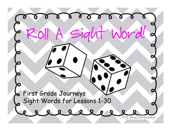 Firs Grade Journeys Sight Words- Roll Say Write