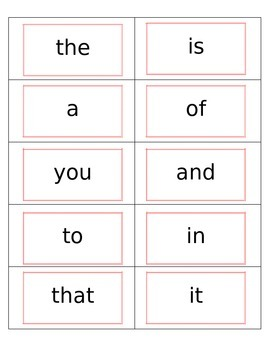 First 10 Fry Sight Words