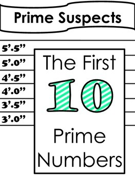 First 10 Prime Numbers - Printable Posters