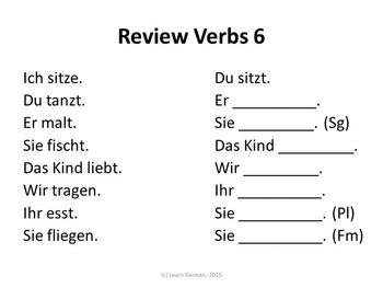 First 10 Verbs in German / Erste 10 Verben auf Deutsch