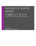 First 100 Days of School Packet!
