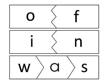 Dolch High Frequency Word Puzzles 1-100
