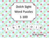 Sight Word Puzzles (Dolch Word List 1-100)