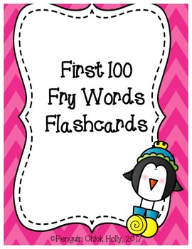 First 100 Fry Flashcards